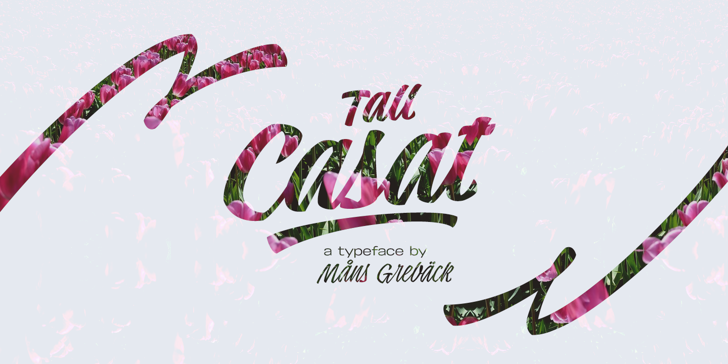 Tall Casat Med PERSONAL USE Font design graphic