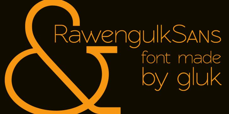 RawengulkSans Font screenshot design