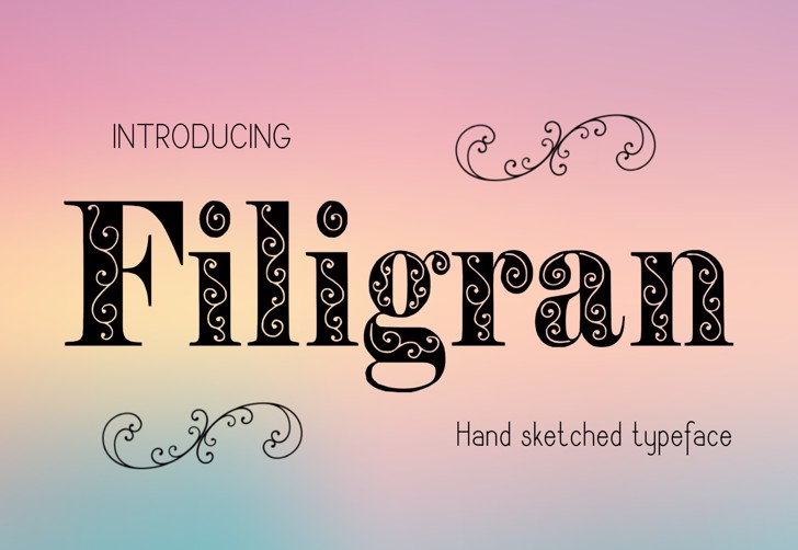 Filigran Font cartoon text