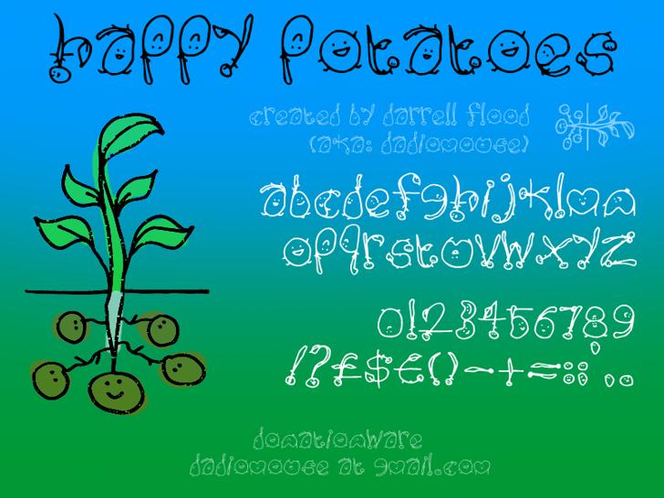 Happy Potatoes Font text screenshot