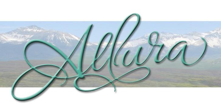 Allura Font sky handwriting