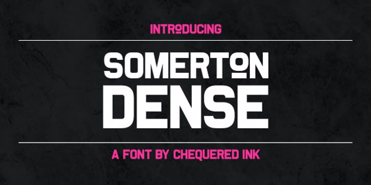 Somerton Dense Font screenshot text