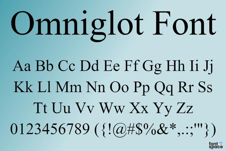 Omniglot Font poster