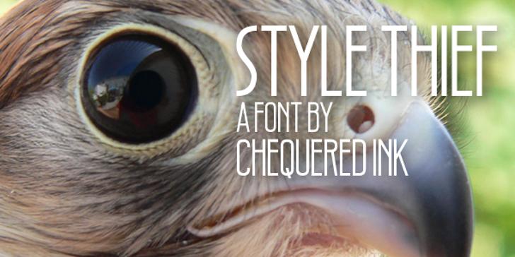 Style Thief Font bird of prey hawk