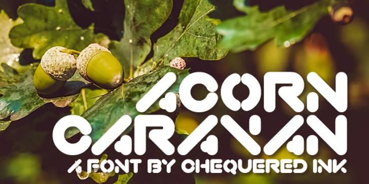 Acorn Caravan Font poster