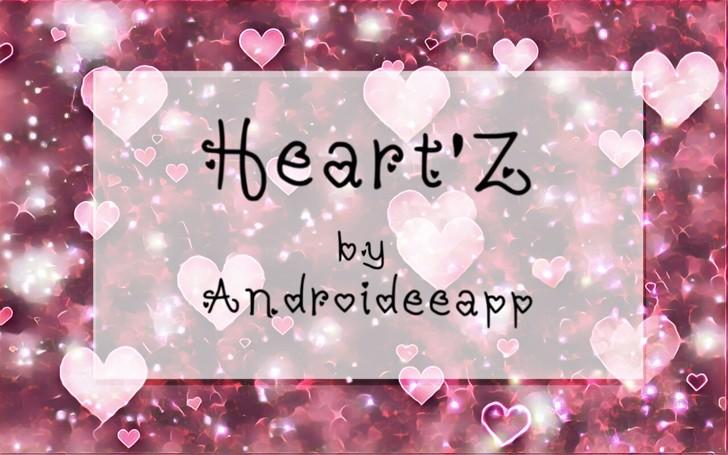 Heartz Font text design