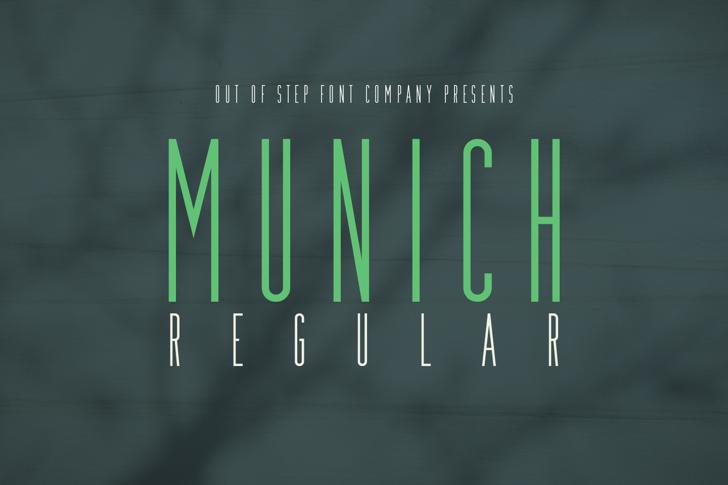 Munich Font screenshot