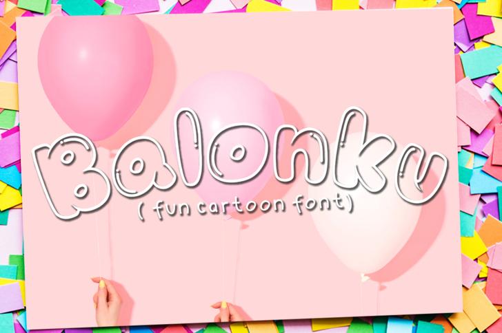 Balonku Font design cartoon