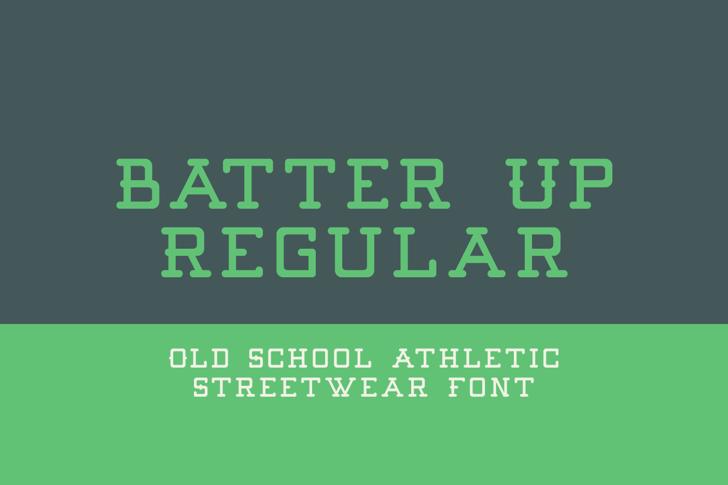 Batter Up Font screenshot design
