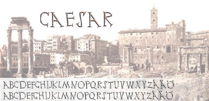 Ceasar Font handwriting building