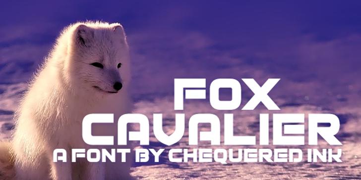 Fox Cavalier Font poster