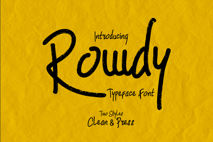 Rowdy Font handwriting text