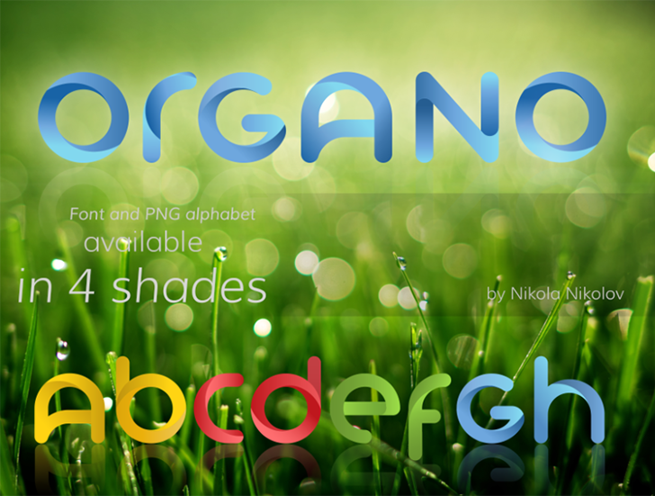 Organo (colored version at: log Font screenshot text