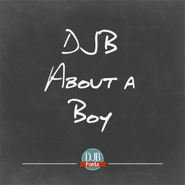 DJB About a Boy Font text handwriting