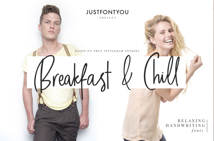 Breakfast And Chill DEMO Font person human face