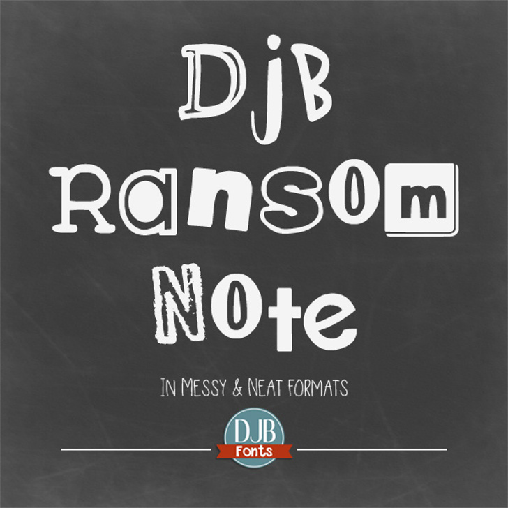 DJB Ransom Note Font screenshot text
