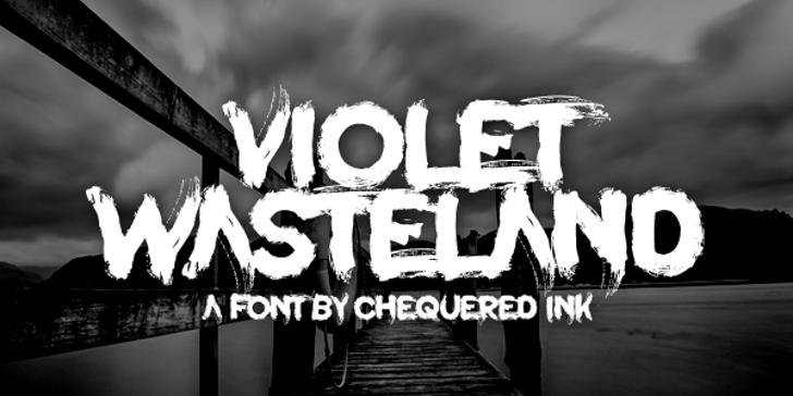 Violet Wasteland Font sign