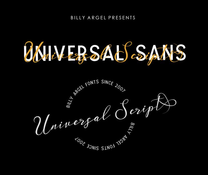 UNIVERSAL SANS PERSONAL USE Font design text