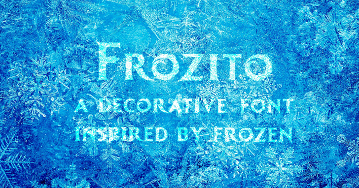 Frozito Font handwriting turquoise