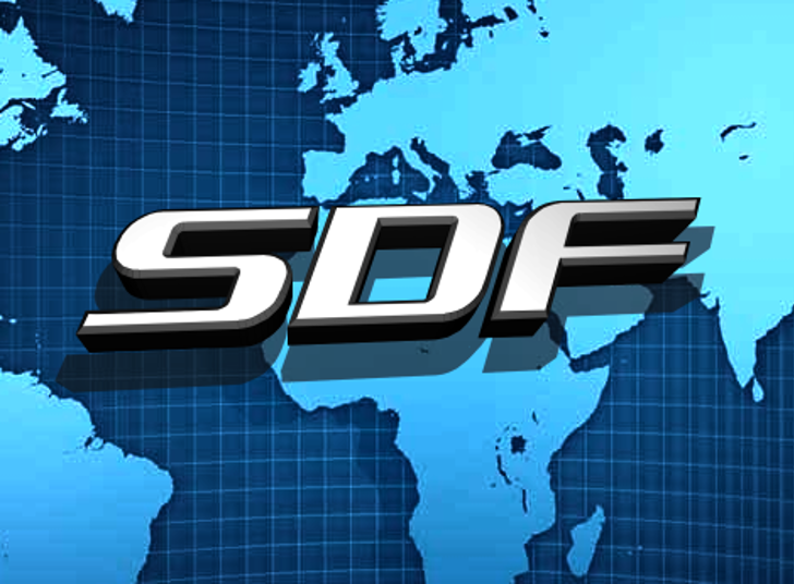 SDF Font world map