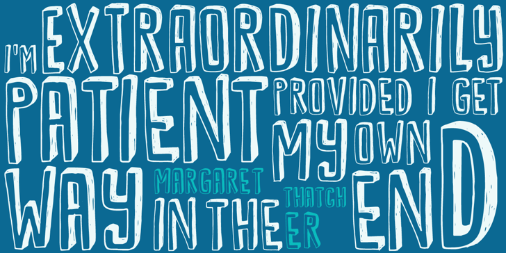 DK Kwark Font poster typography