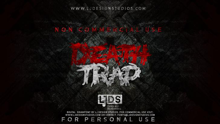 Deathtrap DEMO Font screenshot poster