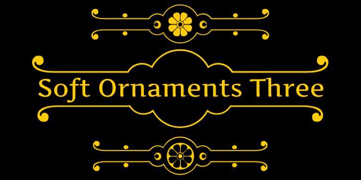 Soft Ornaments Three Font text book