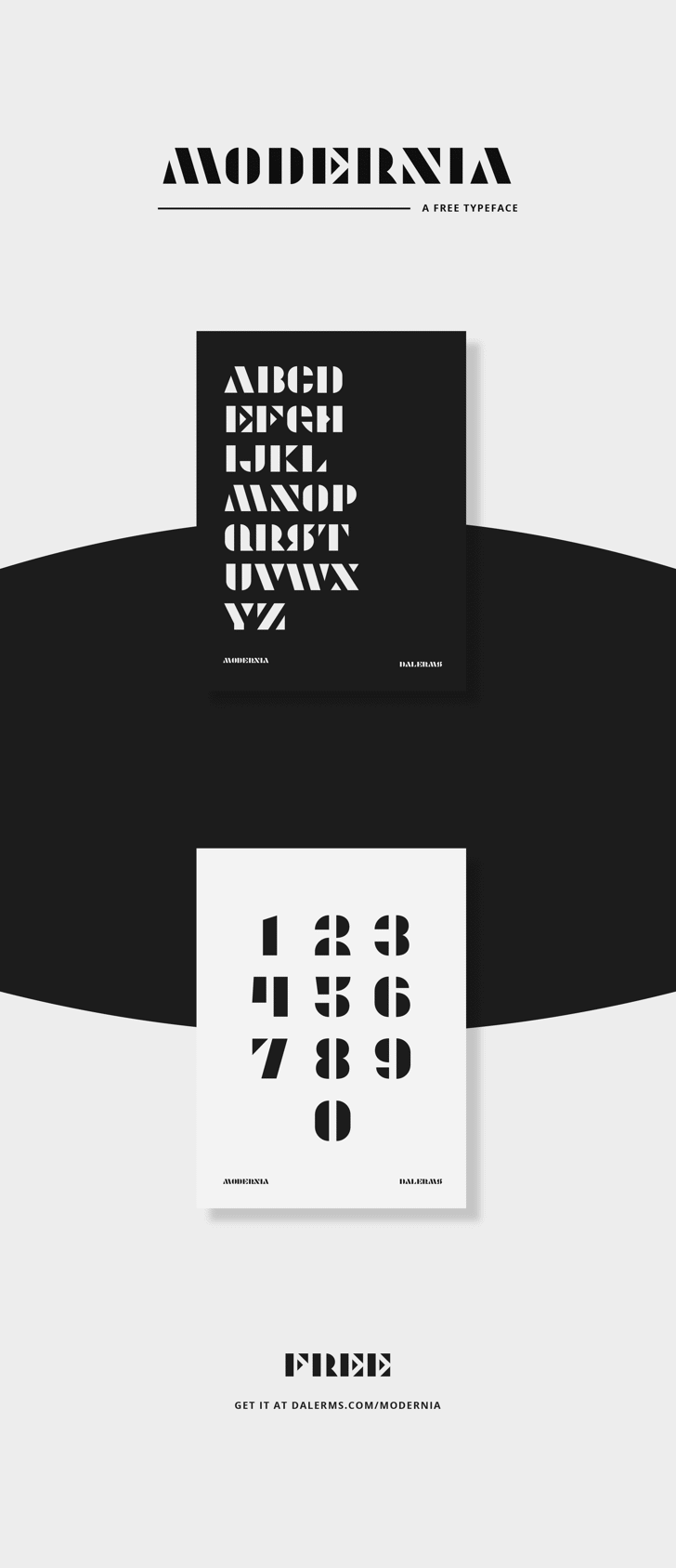 Modernia Font poster