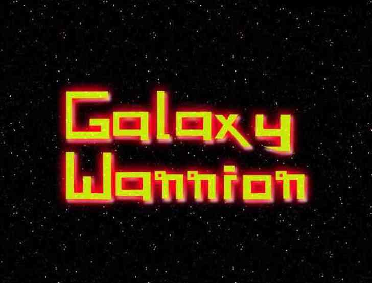 Galaxy Warrior Font screenshot design