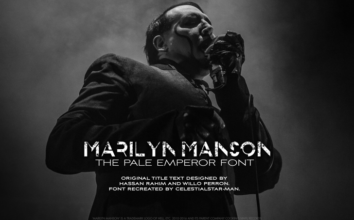 THE PALE EMPEROR Font screenshot poster