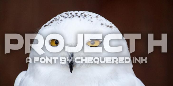 Project H Font indoor screenshot