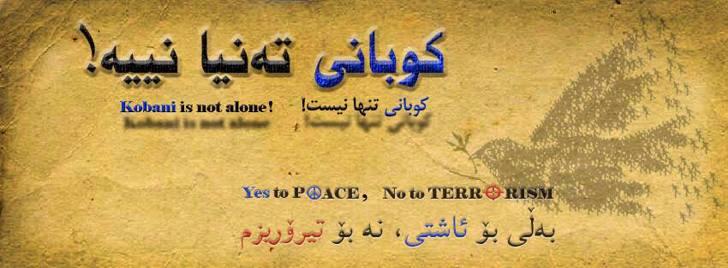 Kobani is not alone Font handwriting text