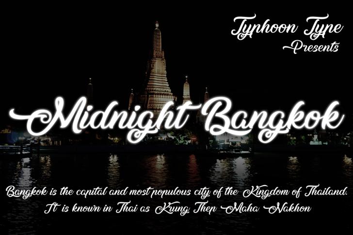 Midnight Bangkok Font text design
