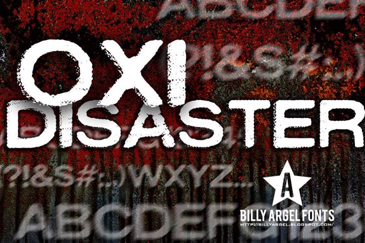 OXIDISASTER Font poster sign