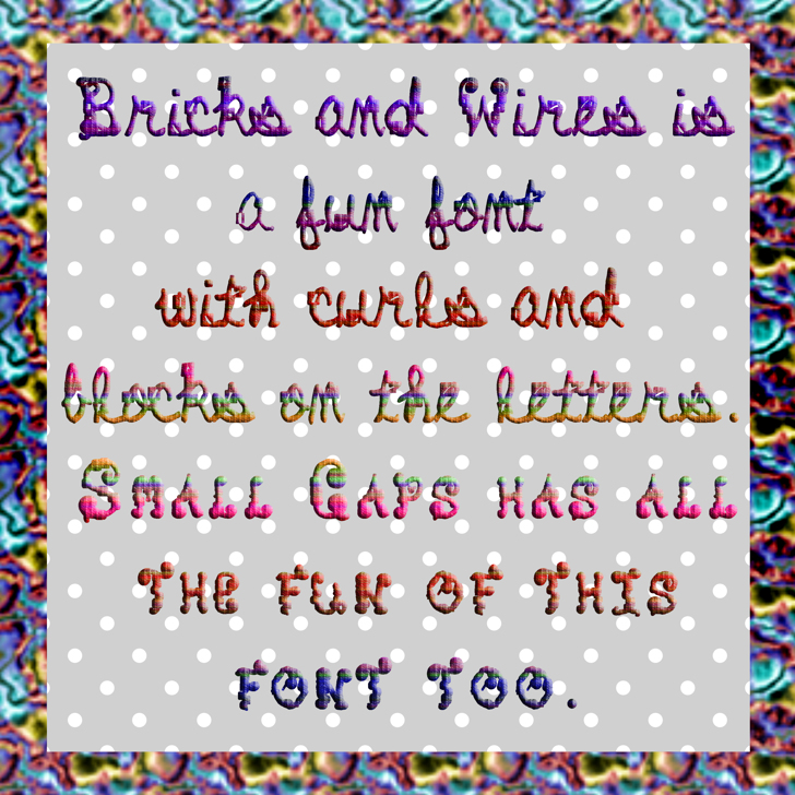 Bricks and Wires Font screenshot text