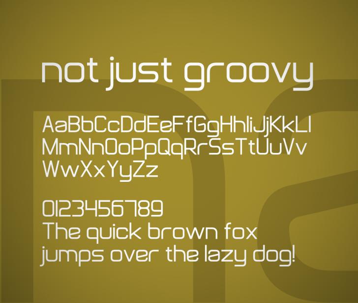 Not Just Groovy Font screenshot text