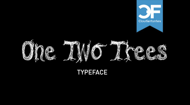 CF One Two Trees Font design cartoon