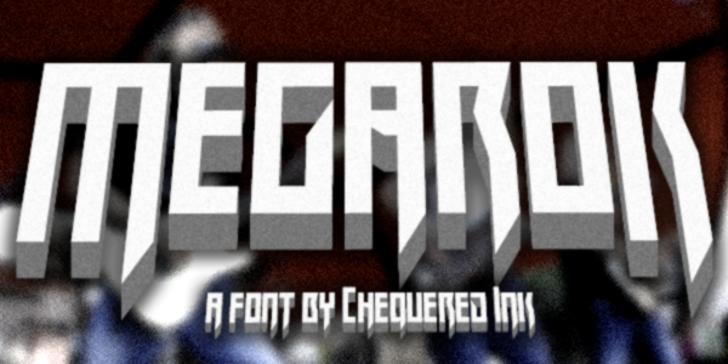 Megarok Font screenshot poster