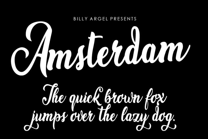 Amsterdam Font text handwriting