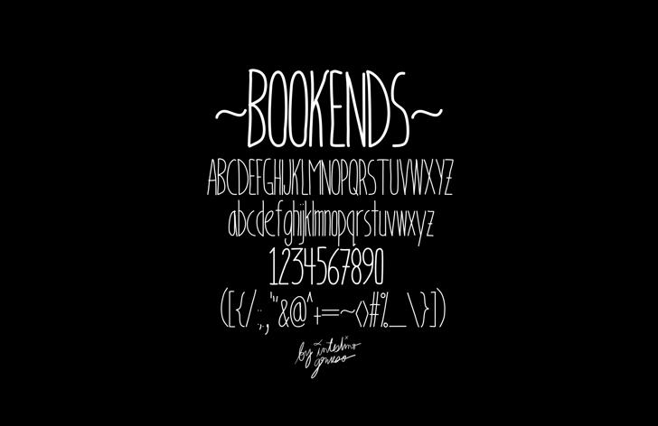 Bookends Font text design