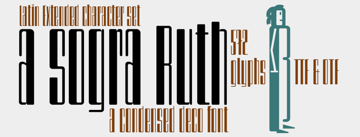 a sogra Ruth Font design typography