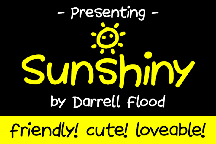 Sunshiny Font screenshot text