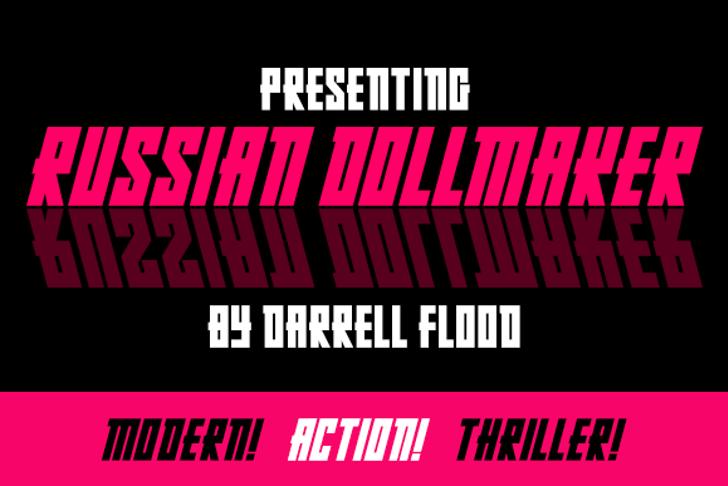 Russian Dollmaker Font poster piano