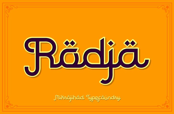 Rodja Font design graphic