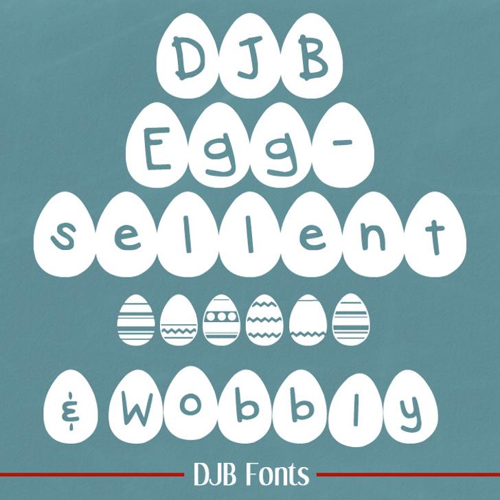 DJB Eggsellent Font design screenshot
