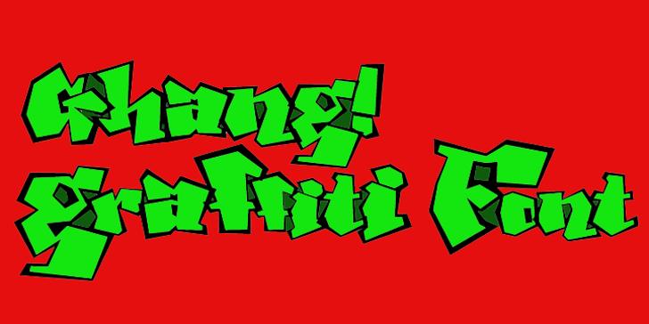 Ghang  Font design cartoon