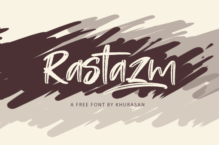 Rastazm Font design typography