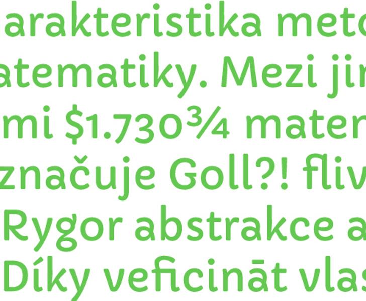 Capriola Font font design