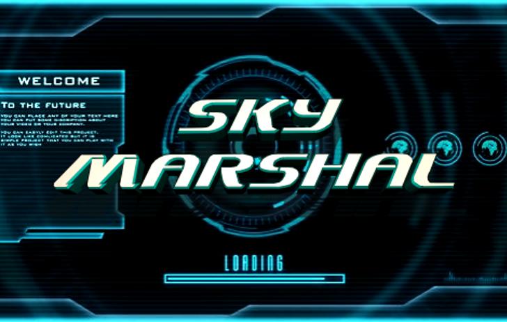 Sky Marshal Font screenshot design