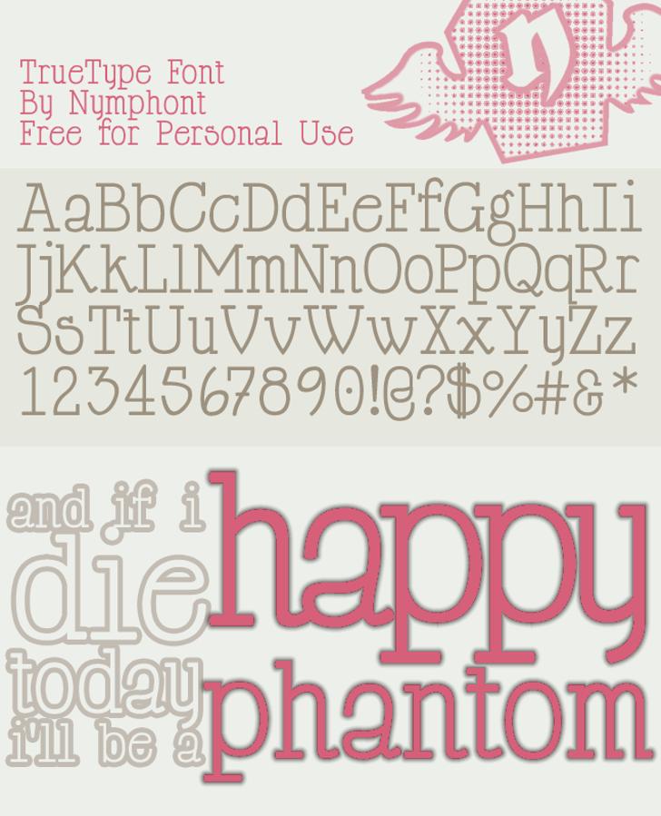 Happy Phantom Font text typography